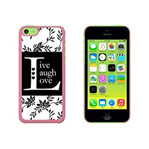 Live Laugh Love Black White Snap On Hard Protective Case for Apple iphone 6 plus - Pink