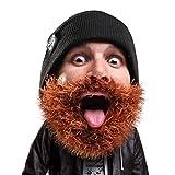 (US) Beard Head - The Original Bushy Biker Knit Beard Beanie (Brown)