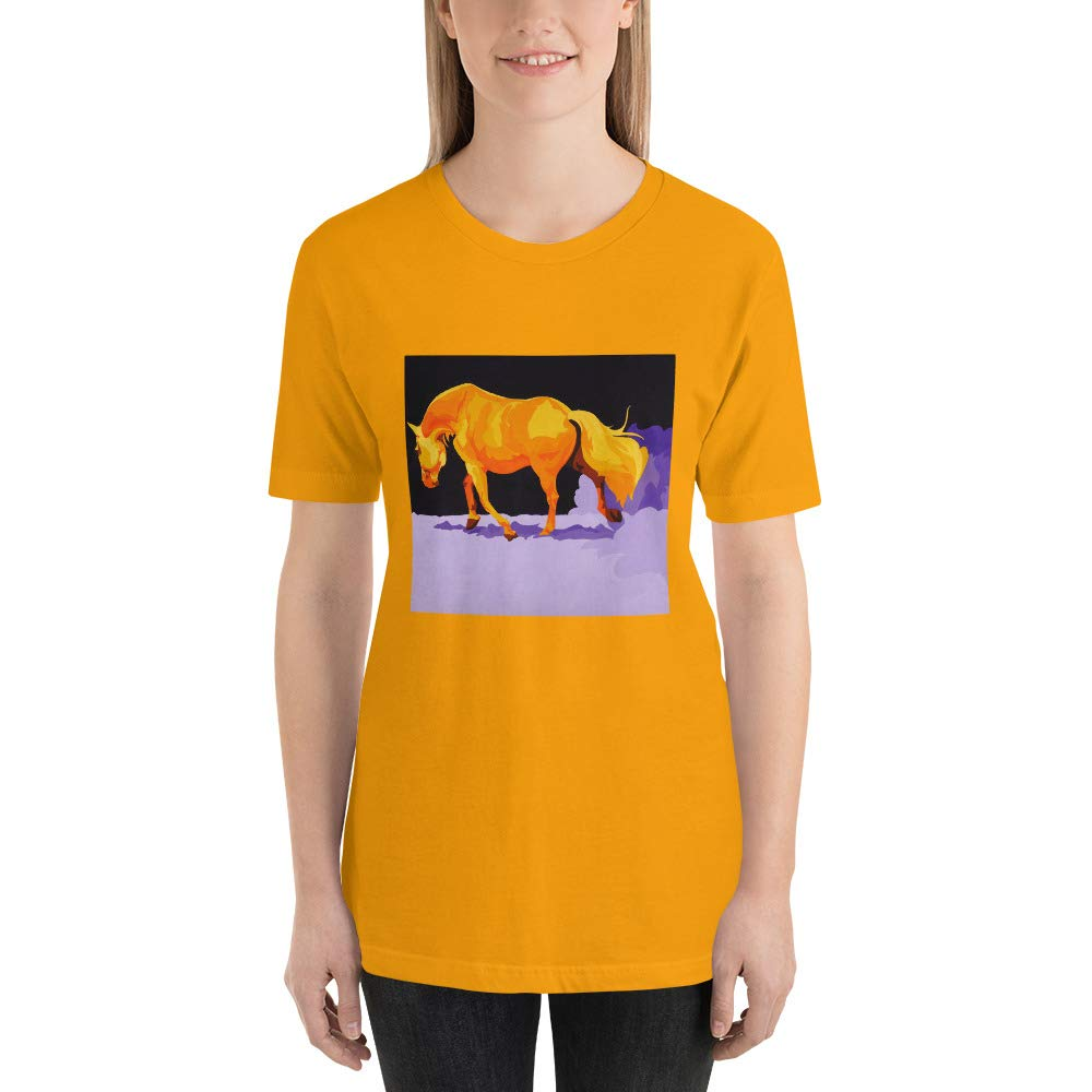 Compliments Series YP 4 Colorful Horse Short-Sleeve Unisex T-Shirt