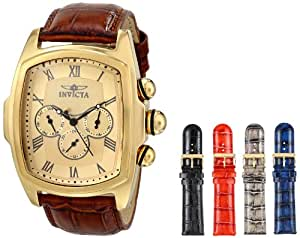 Invicta Men's 12646 Lupah Analog Display Swiss Quartz Brown Watch