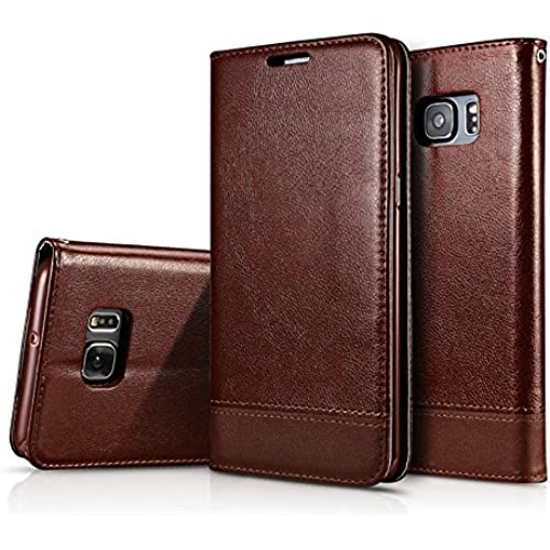 S7 Edge Case, S7 Edge Case, CAPY [Stand Feature] Wallet Leather Case with Stand, ID & Credit Card Pockets Flip Cover For Samsung Galaxy S7 Edge - Brown Sales