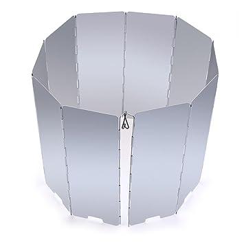 WINOMO 10 placas parabrisas plegable estufa viento pantalla parabrisas para Camping Picnic: Amazon.es: Deportes y aire libre