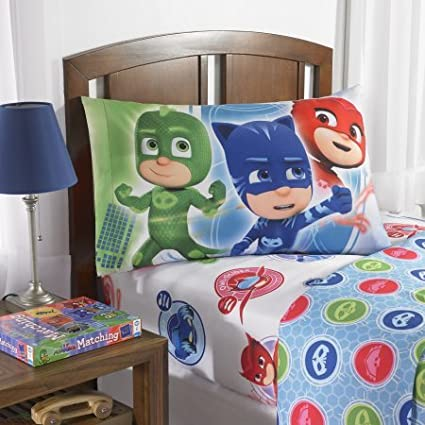 Cute PJ Masks On Our Way Bedding Sheet Set, Makes a great gift