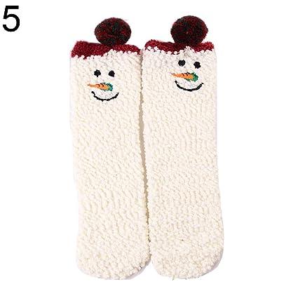 [Calcetines ]-invierno lindo Navidad dibujos animados orejas de animal mujeres Coral forro polar
