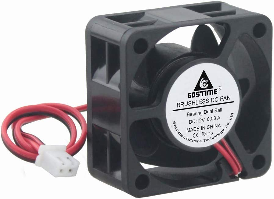 GDSTIME 40mm x 40mm x 20mm Dual Ball Bearings 12V DC Brushless Cooling Fan