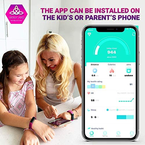 Kids Fitness Tracker for Kids Activity Tracker - Smart Watch for Android Phones iOS Digital Watch Smart Step Calorie Counter Sleep Monitor Exercise Pedometer Alarm Clock (2Bands) 9