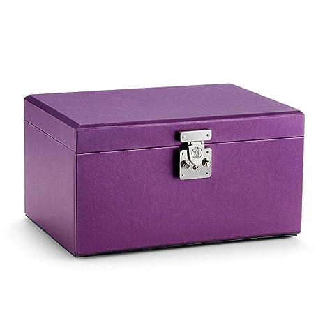 ASDAD Caja De Joyería Organizador De Cuero De 4 Capas con ...