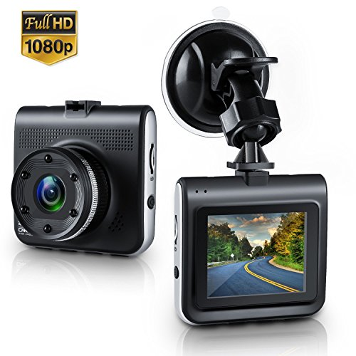Dash Cam,Bekhic Mini Dash Camera for Cars with FHD 1080P, 2.2' LCD, 170 Degree Wide-Angle View Lens, G-Sensor, WDR, Loop Recording, Great Night Vision (Black)