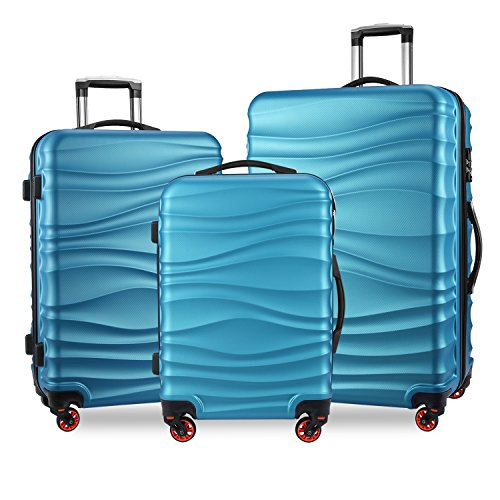 YUTING Luggage Expandable Suitcase 3 Piece Set with TSA Lock Spinner 20in24in28in by YUTING
