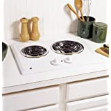 GE JP202DWW 21 White Electric Coil Cooktop