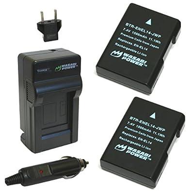 Wasabi Power Battery and Charger for Nikon EN-EL14, EN-EL14a