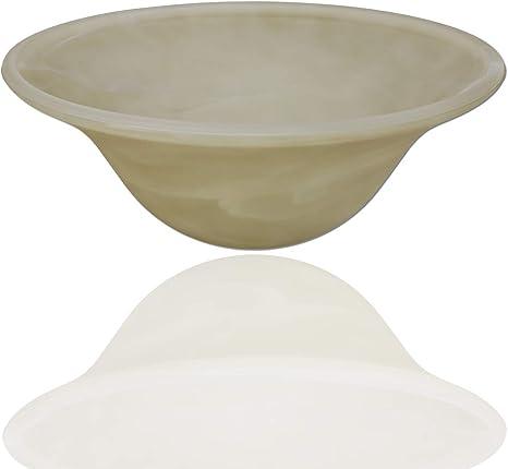 Floor Lamp Amber Alabaster Glass Bowl Shade Floor Lamp Glass
