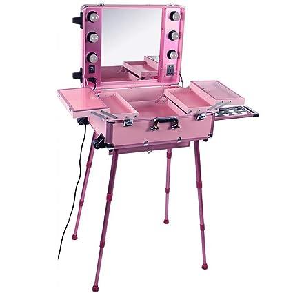 XHH-Maleta Maquillaje Trolley,Maletín De Cosméticos, Estuche ...
