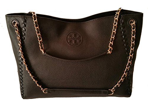 Tory Burch Marion Slouchy Shoulder Tote Black Leather Bag by Tory Burch (Image #2)
