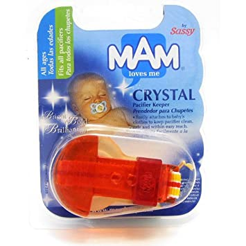 Amazon.com : MAM Crystal Pacifier Clip : Baby Pacifier ...