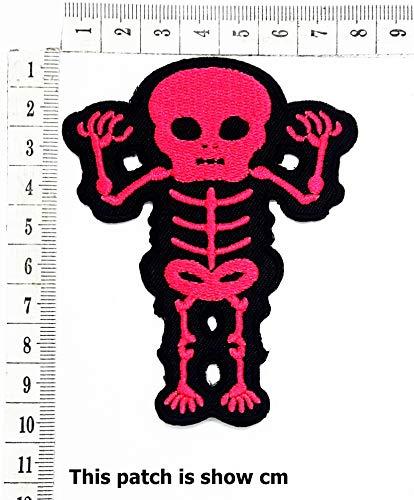 x-Ray Sugar Skull Tribal Tattoo Rockabilly Day of Dead Biker Motorcycle Cartoon Chidren Kids Embroidren Iron Patch/Logo Sew On Patch Clothes Bag T-Shirt Jeans Biker Badge Applique
