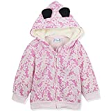 Disney Minnie Mouse Character Baby Girls Warm Hoodie, Hooded Jacket Jumper - Pink 24
