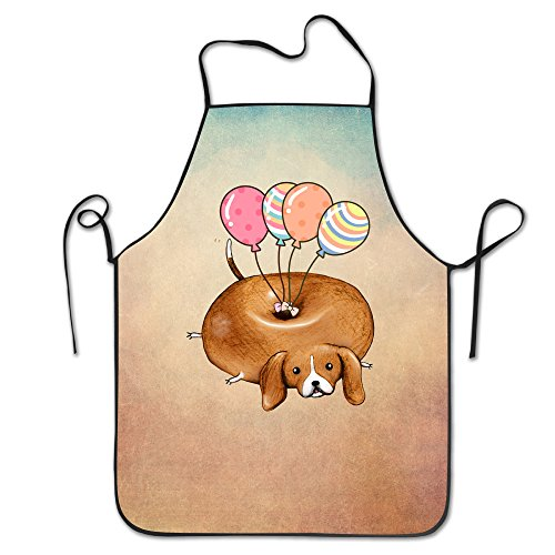 Funny Beagle Dog With Ballon Adjustable Bib Apron Adult Home Kitchen Apron Chef Apron For Men And