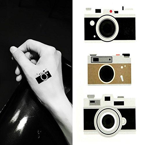 d8a1aacc8 Amazon.com : Oottati Small Cute Temporary Tattoo Camera (2 Sheets) : Beauty
