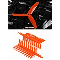 UUMART KingKong 5040 3-Blade Propellers (10 Pairs, 10CW, 10CCW) 5x4x3 Orange Recommended Motor 1806(3-4S),2204(3-4S),2205(3-4S),2206(3-4S)