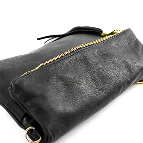 bag croco Black T54 nappa shoulder small leather shoulder Wild bag Italian bag leather underarm leather bag Clutch gfqw1a5