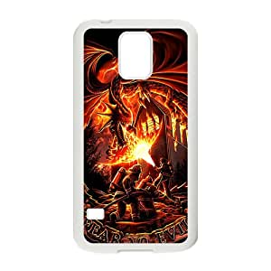 Firefighter Fear No Evil Dragons Cell Phone Case for Samsung Galaxy S5
