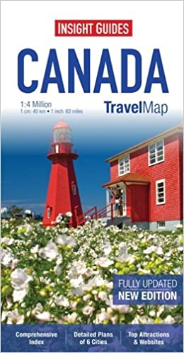 insight guides travel map canada insight travel maps amazoncouk apa publications limited 9781780054711 books