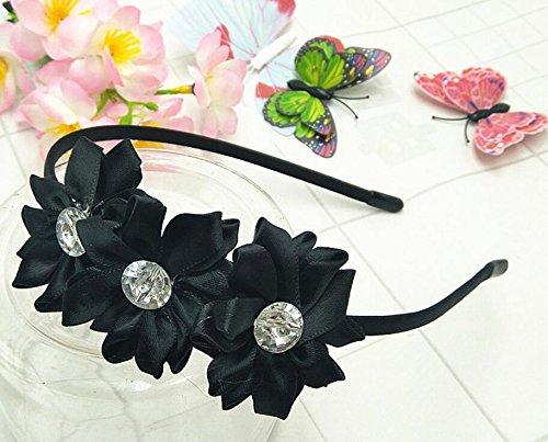 Sun Glower Simulazione del Copricapo per Bambini Simulazione Diamond Vivid Flower Headband_Black