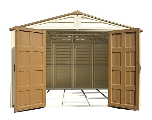 Duramax Building Products WoodBridge Plus 10 ft. x 10 ft. Vinyl Storage Shed with Foundation by Duramax (Image #4)