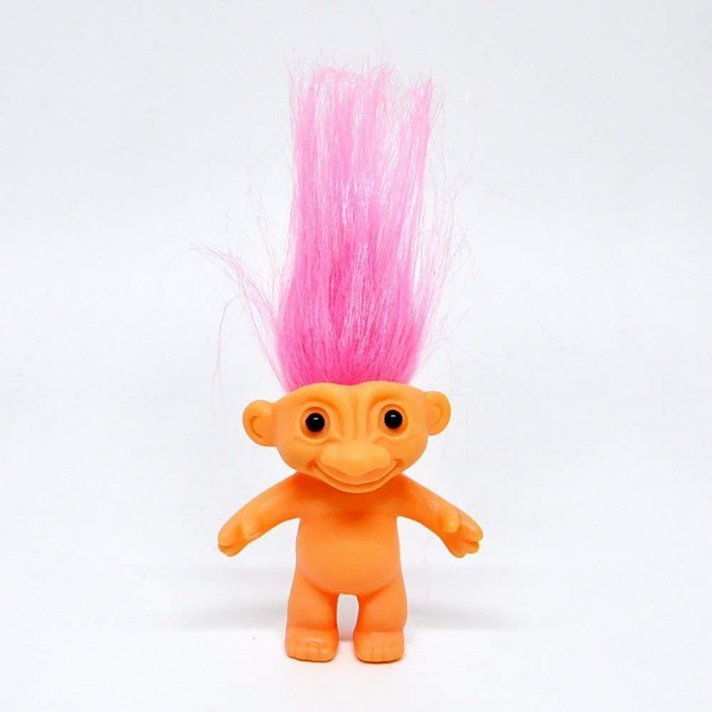 Xiton Vintage Mini muñeca de Troll Trolls Suerte muñeca Mini acción Figuras Silicona Doll(Pink) 1PC: Amazon.es: Juguetes y juegos