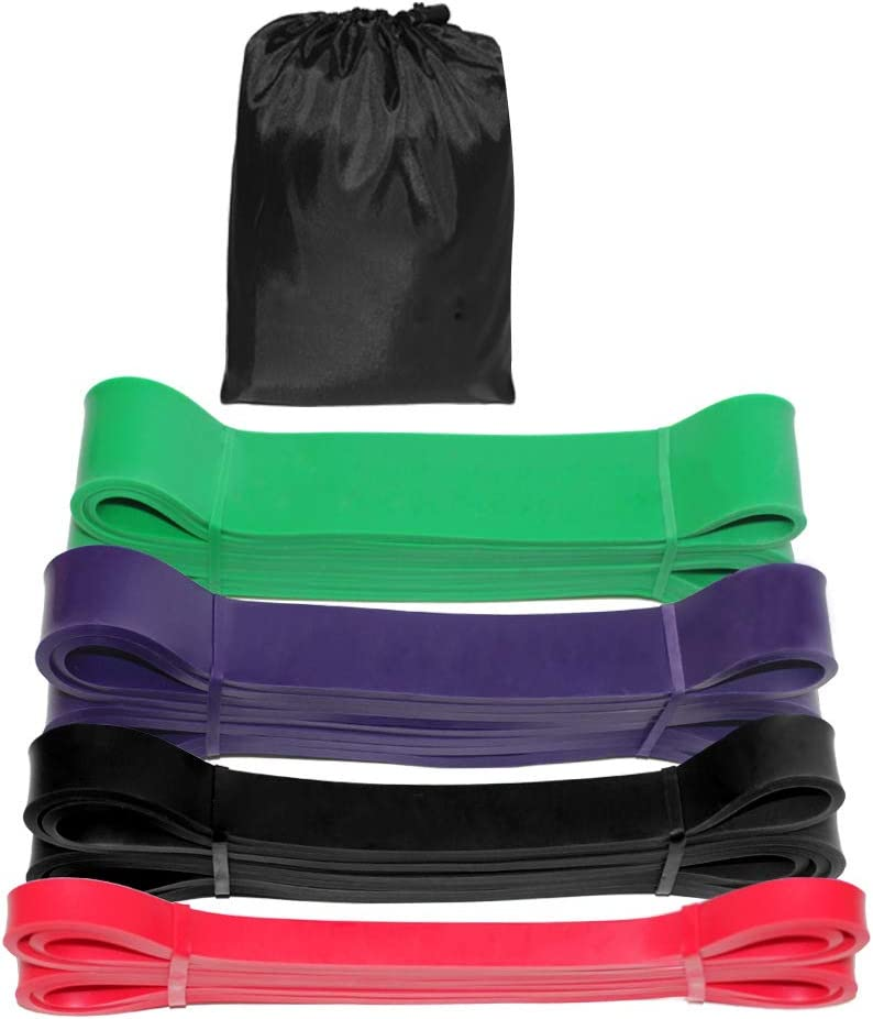 Yoga Rehab Home Fitness Stretching Redson Heavy Duty Resistance Bands Exercise Loops Set of 4 Bands ,Stretch Resistance Band for Physical Therapy