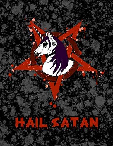 Hail Satan: Metal Corpse Paint Unicorn Weekly Personal Organizer, Motivational Planner and Calendar Tracker Scheduler (A Grindcore Christmas)