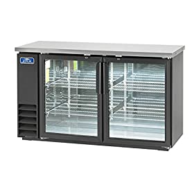 Arctic Air ABB60G Glass 61-Inch 2-Door Back Bar Refrigerator, 115v