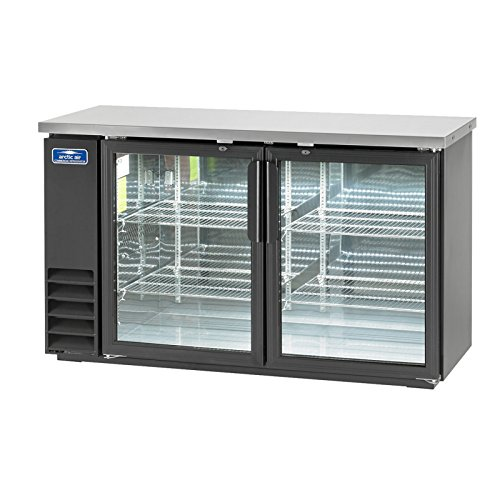 Arctic Air ABB60G, Back Bar Refrigerator, Glass Doors, two-section, Interior LED Lighting, NSF Certified