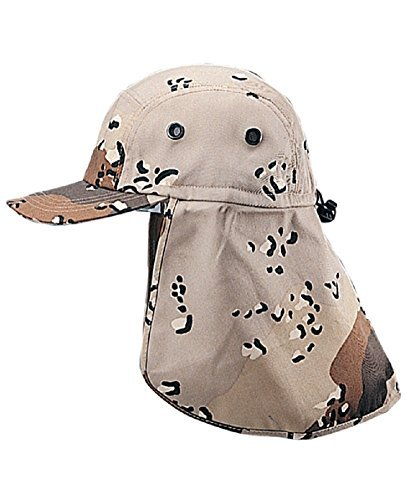 (MG Twill Cap with Flap Hat, Desert)