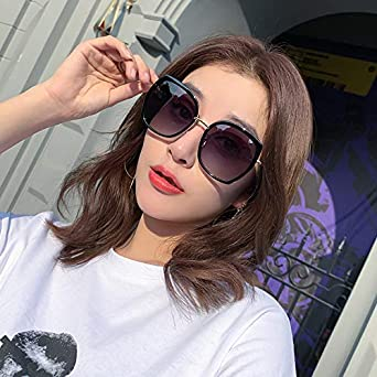 MQKZ Gafas de sol Street Beat Cara redonda Gafas de sol ...