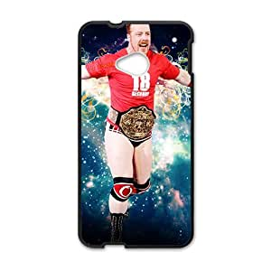 Happy WWE Wrestling Fighter Black Phone Case for HTC One M7