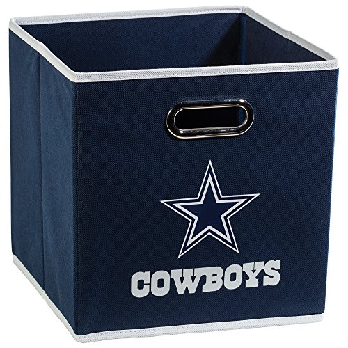 Franklin Sports NFL Dallas Cowboys Fabric Storage Cubes - Made To Fit Storage Bin Organizers (11x10.5x10.5