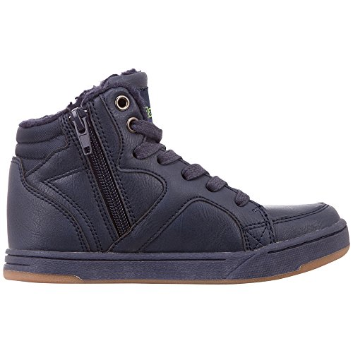 Bleu Mixte 6733 Nanook Kappa Lime Enfant Baskets Navy Teens Hautes awYq64T