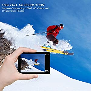 GJT GP1R Action Camera 4K Sports WiFi Camera,12MP Ultra HD Camera 30M Waterproof DV Camcorder 2 Inch LCD Screen, 170 Degree Wide Angle Lens,with Remote Control, 2x1350mAh Batteries
