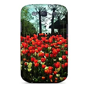 Awesome Design Field Of Tulips Hard Case Cover For Galaxy S3