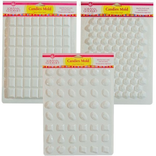 - Lorann Hard Candy Making Mold Gems Set - Includes Jewels, Break Apart Hexagon, and Break-apart Rectangle