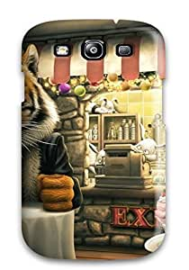 ZpJFrTS3567dBPxh Case Cover, Fashionable Galaxy S3 Case - Tiger Funny Cartoon S