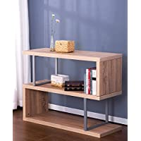Merax Modern Studio Collection 3-Shelf Bookcase/Console Sofa Table (Grey)
