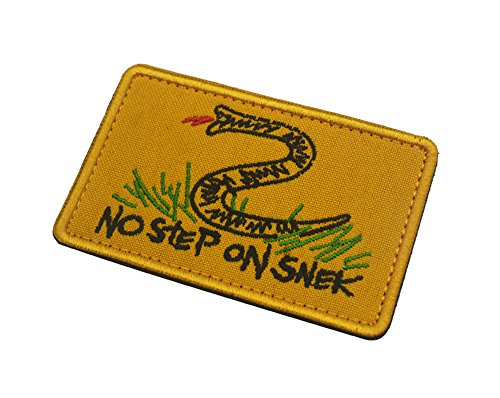 No Step On Snek, Morale Patch Funny Tactical Morale Badge Hook Loop Tactical Patch