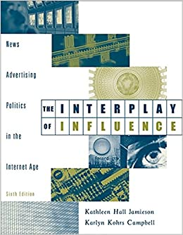 The Interplay of Influence: News, Advertising, Politics, and the Internet (with InfoTrac)