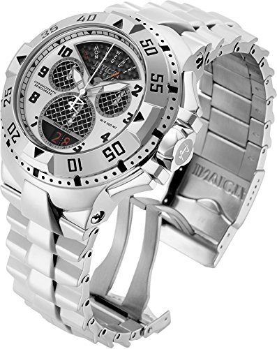 Invicta Men's 'Excursion' Swiss Quartz Stainless Steel Casual Watch, Color:Silver-Toned (Model: 17468) - Excursion Case