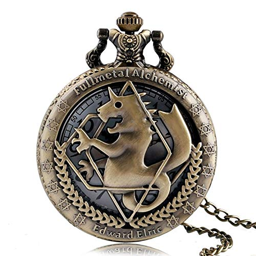 Vintage Bronze Police to Protect and Serve Pocket Watch Women Men Ladies Kids Pocket with Chain Pendant - Bronze Alchemy New