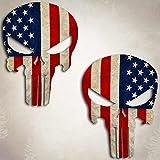 American Flag Punisher Skull Sticker USA Military Sniper Decal