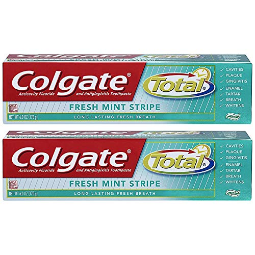 Colgate Total Fresh Mint Stripe Gel Toothpaste - 6 ounce (2-Pack)